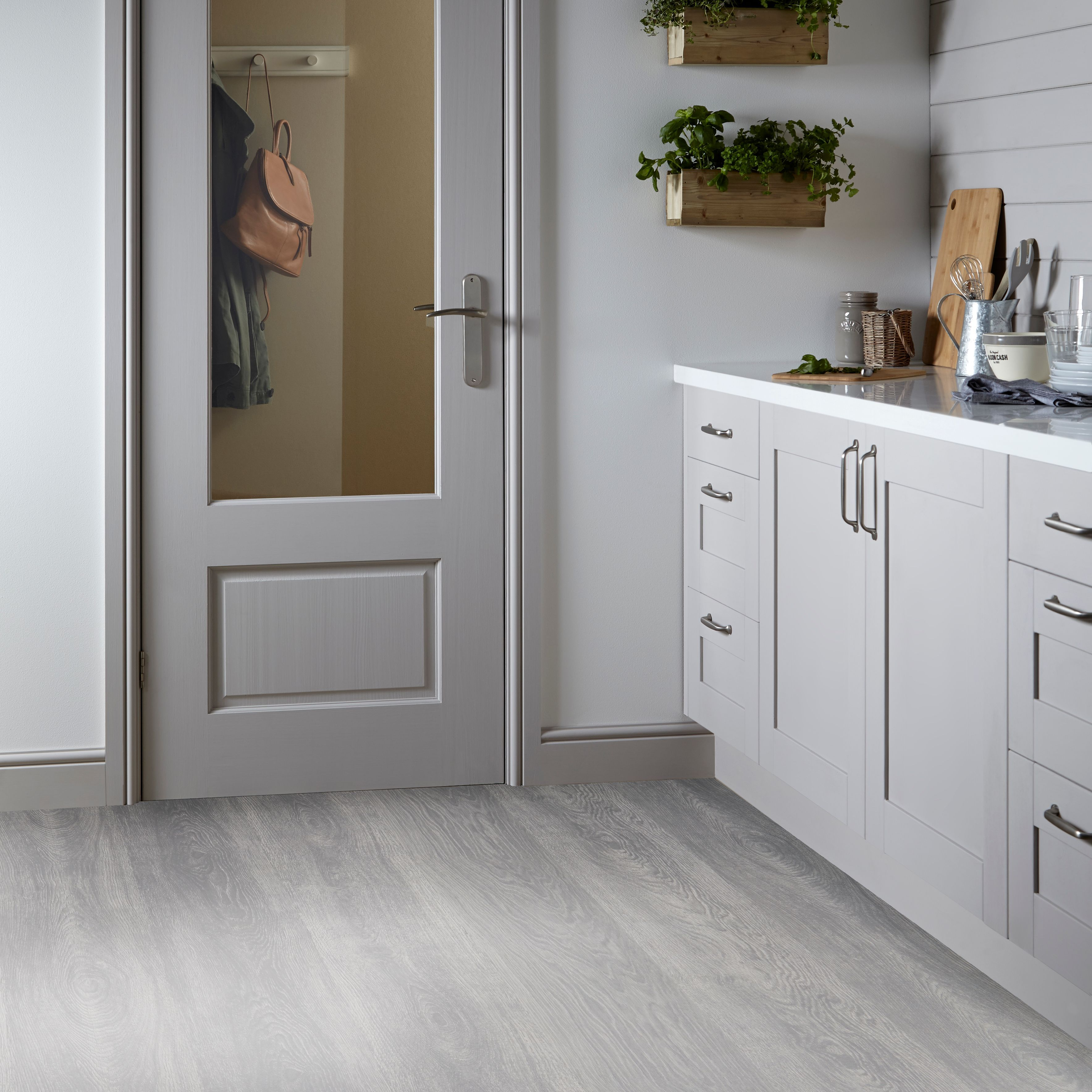 Isalenia Whitewood Effect Matt Vinyl Flooring 6 M B Q For All Your Home And Garden Supplies And Advi White Vinyl Flooring Vinyl Tile Bathroom Vinyl Flooring