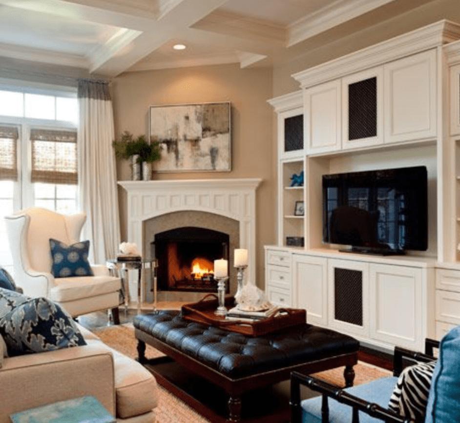 Inspiring Corner Fireplace Design Ideas For Your Cozy ...
