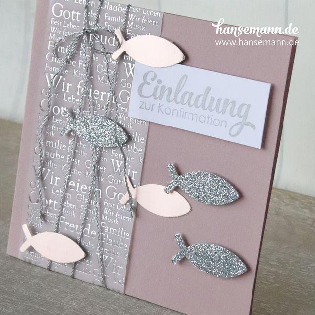 Fish over fish  – Explosionbox zur Taufe /Konfirmation /Kommunion
