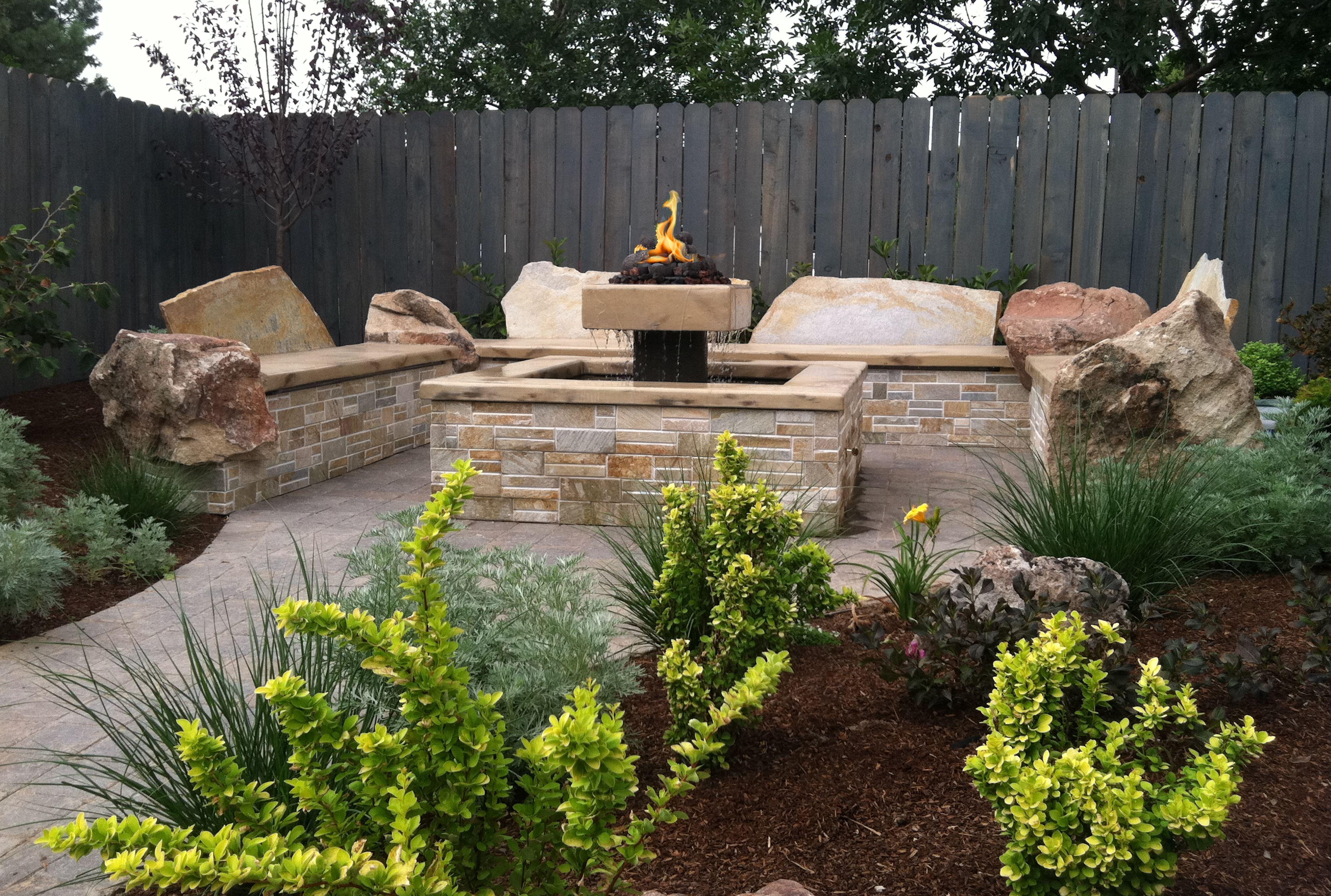 Boise Landscape Design And Build Garden Fire Pit Fire Pit Patio Small Backyard Design