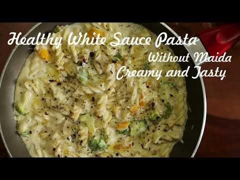 Healthy white sauce pasta(w/o maida) #Instafood #Instasnacks #Kidsfriend...