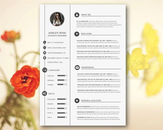 Resume Template  Cover Letter References  Free Icon  Microsoft