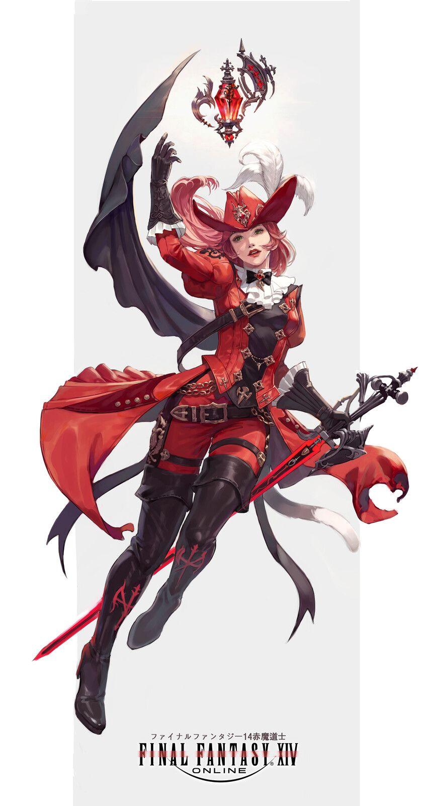Photo of FINAL FANTASY XIV Red Mage Final Fantasy 14 Red Mage, chearin kim