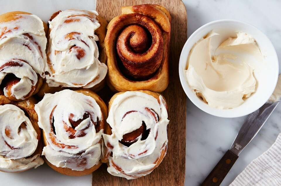 Keto-Friendly Cinnamon Rolls | King Arthur Baking: Cinnamon rolls made without sugar for a keto-friendly breakfast indulgence.