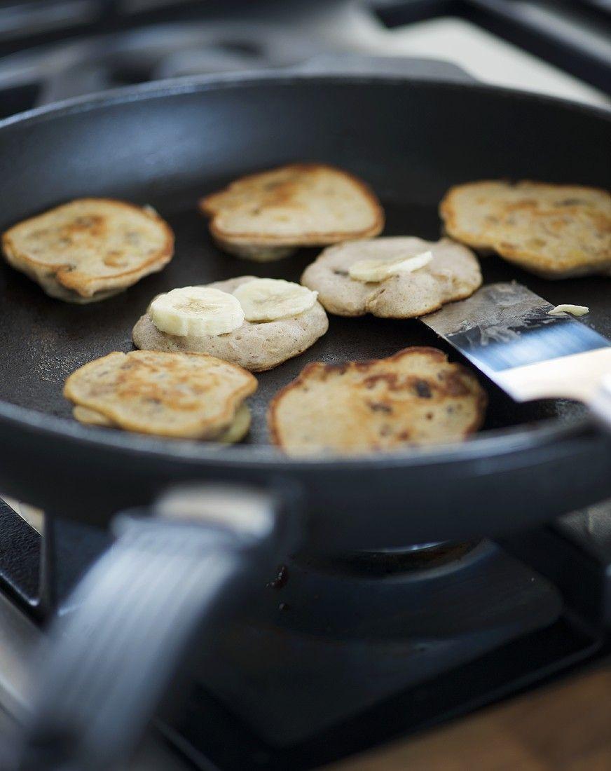 Kleine Bananen-Pancakes
