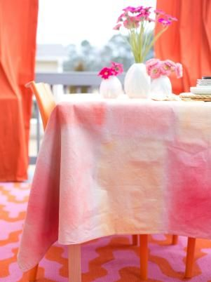 make your own watercolor tablecloth watercolor