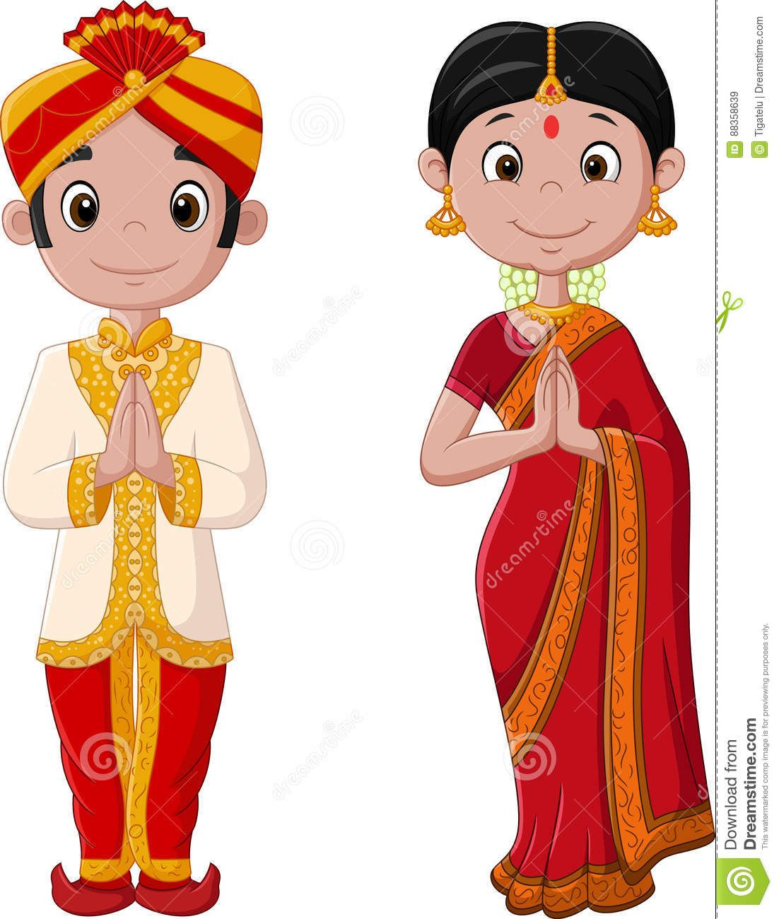24+ Indian Wedding Cartoon  JPG