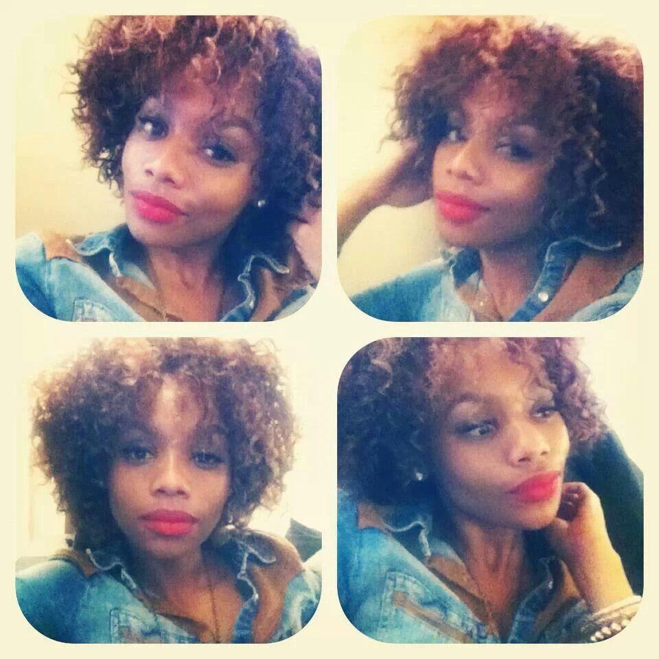 Red Lips And Curls Bonang Matheba Hair Winter Fashion