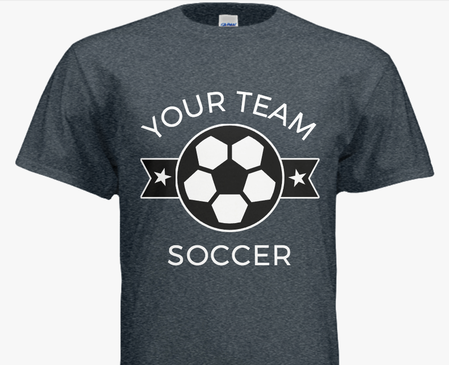 Modern Soccer Team T Shirts Customize With Your Team And Add Team Colors In Our Easy To Use Design T Shirt Design Template Custom Design Shirts Shirt Designs