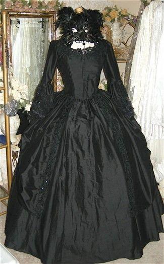 Gothic Victorian Steampunk Wedding Gown
