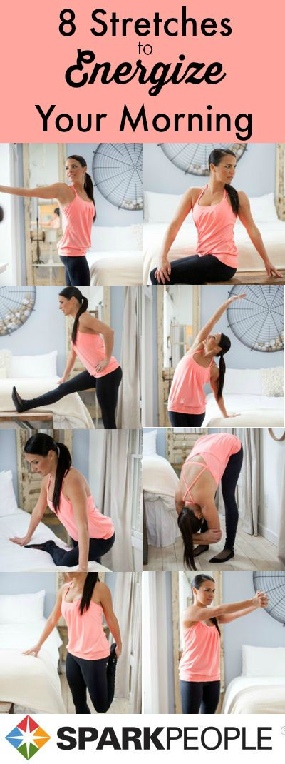 A feel-good stretching routine to try any time of day. We love this in the morning! | via @SparkPeople #fitness #exercise #workout