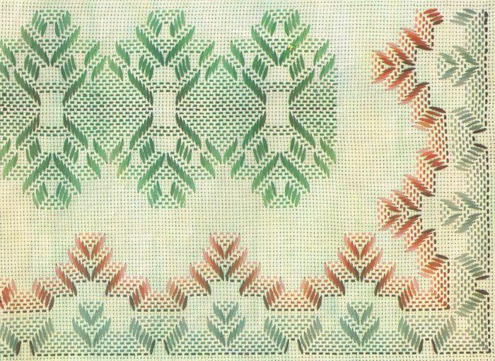 Punto Yugoslavo / Vagonite pattern | punto yugoslavo | Pinterest ...