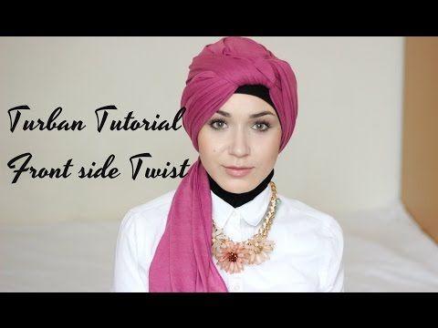 Turban Tutorial Front Side Twist Youtube In 2020 Turban