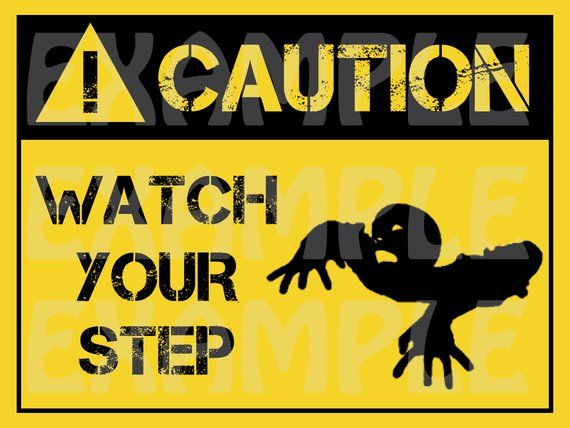 graphic relating to Printable Watch Your Step Sign identified as PDF: Warning Zombie Keep an eye on Your Phase Signal - Halloween