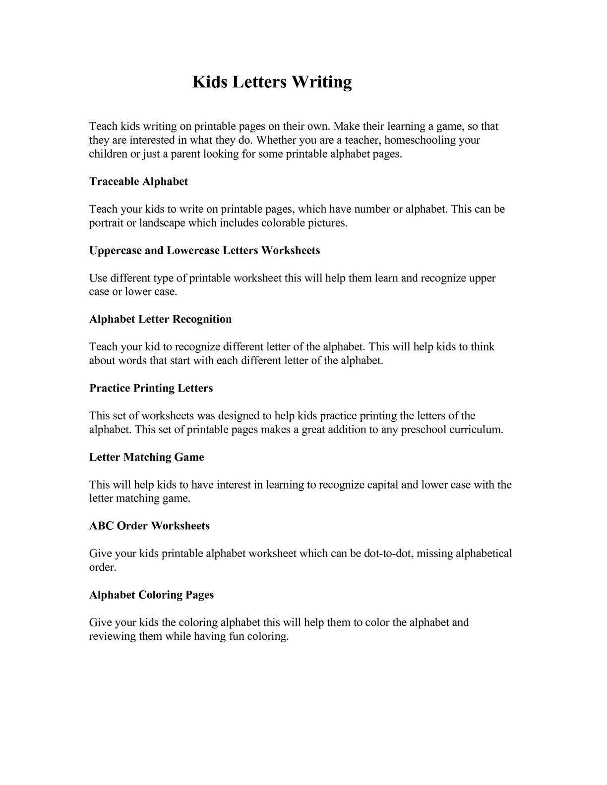 Printable Abc Order Worksheets Calameo Kids Letter Writing