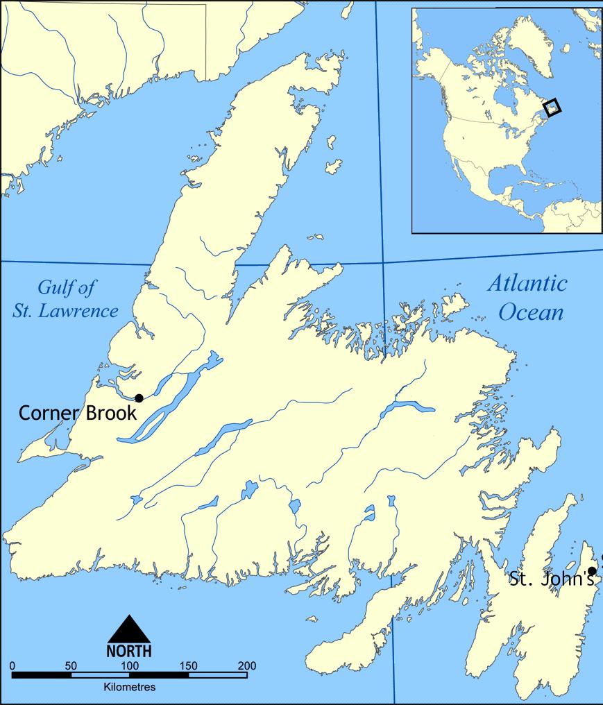 Map Of Corner Brook Newfoundland Canada Épinglé par Janell Barger sur St. John'smy homeNewfoundland