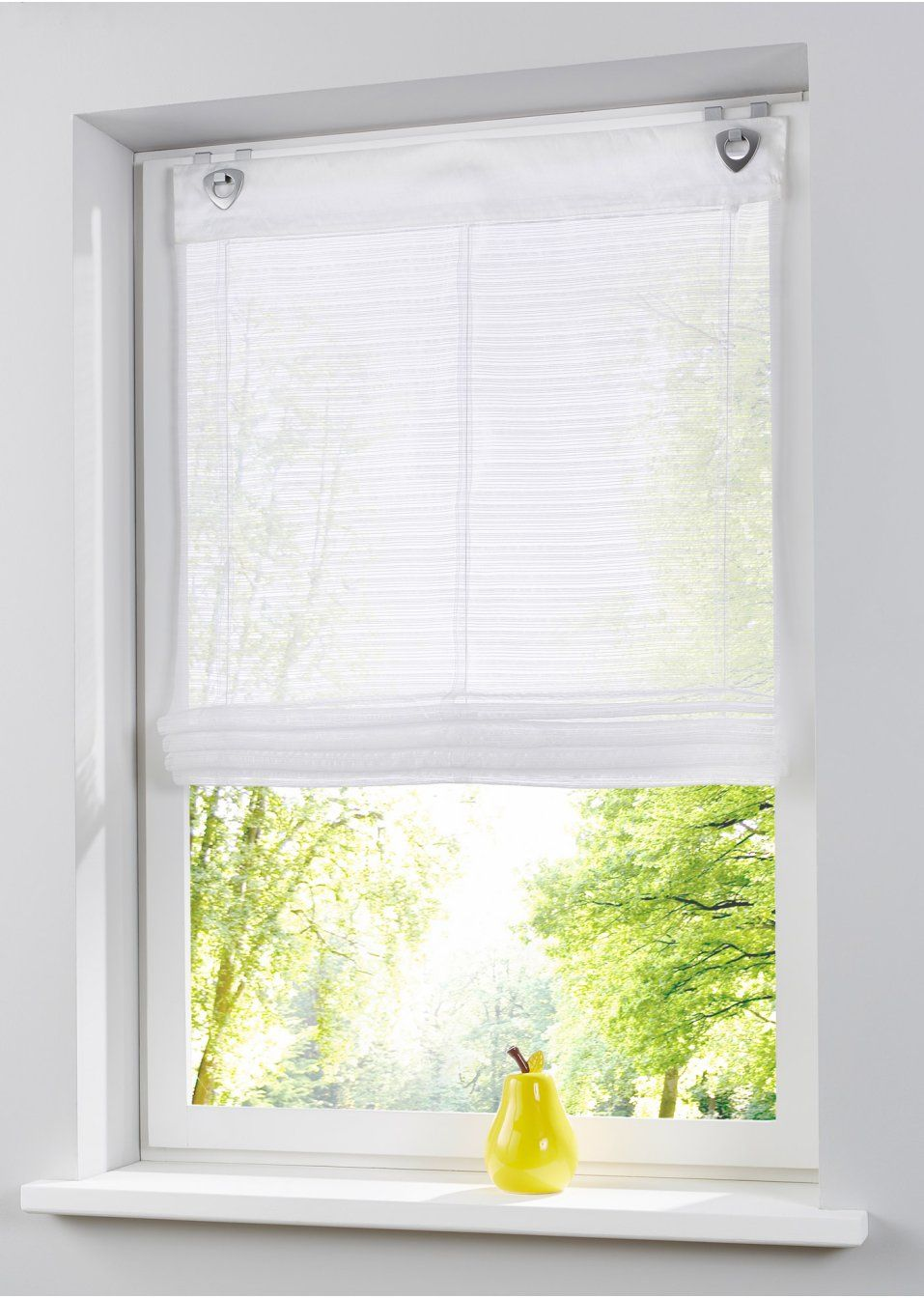 Bekijk nu:Transparant ophaalgordijn met mooie streepjes. Met de ...