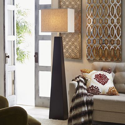 Metropol floor lamp all made up pinterest floor lamp with its handsome wooden base and square fabric shade the sleek geometric metropol floor lamp from pier 1 is sophisticated smart and tasteful aloadofball Images