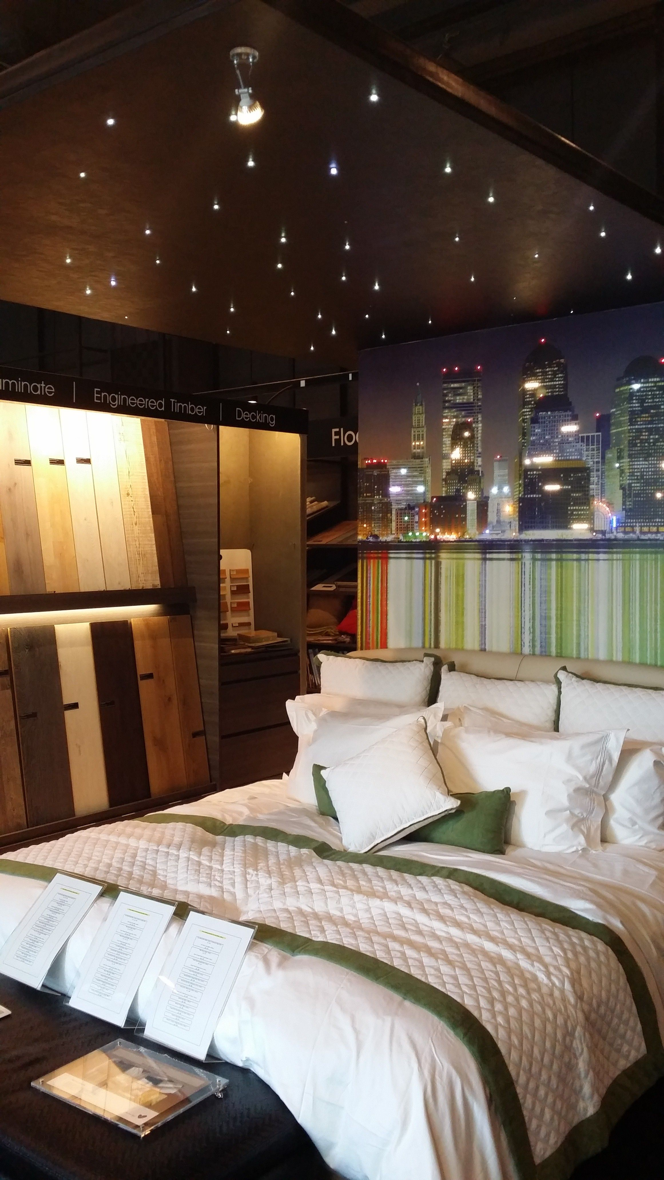 Light up your bedroom wall and ceiling with Illuminated