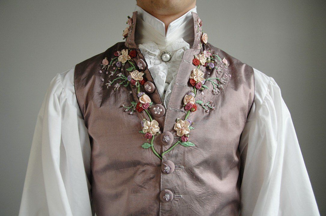 Embroidering an 18th century waistcoat historical