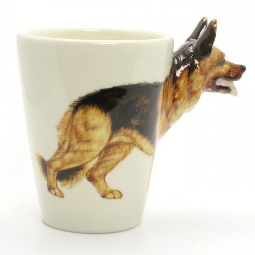 German Shepherd Dog Mug 00001 Ceramic 3D Coffee Cup Home Decor Gift