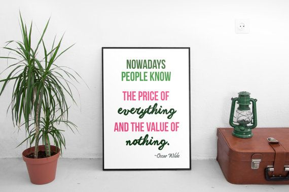 Oscar Wilde quotes, Printable quotes, Wall art quotes, Digital print, Typography art, Life Quotes, Room decor printable, Quote poster print