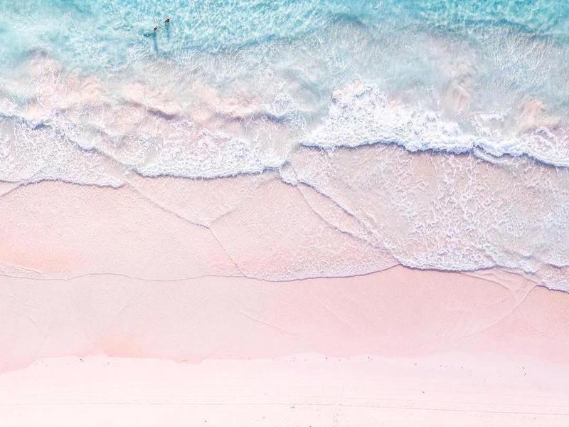 World S Most Instagrammed Beaches Pastel Beach Pink Ocean Light Blue Aesthetic