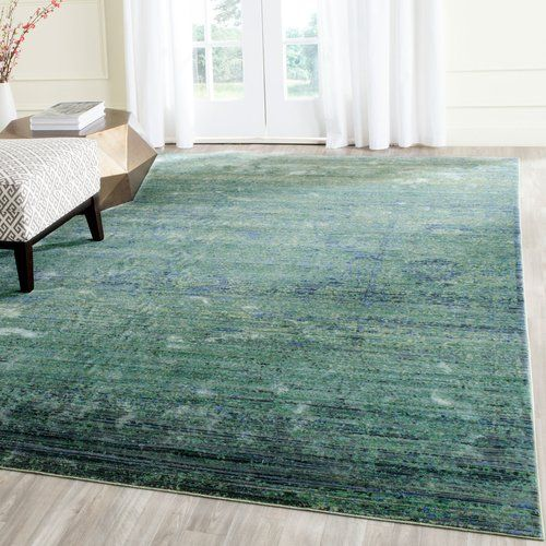 Williston Forge Darvin Green Area Rug Polyester Rugs Rugs Area