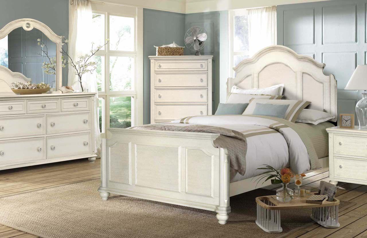 coastal mansion bed bedroom set  broyhill furniture