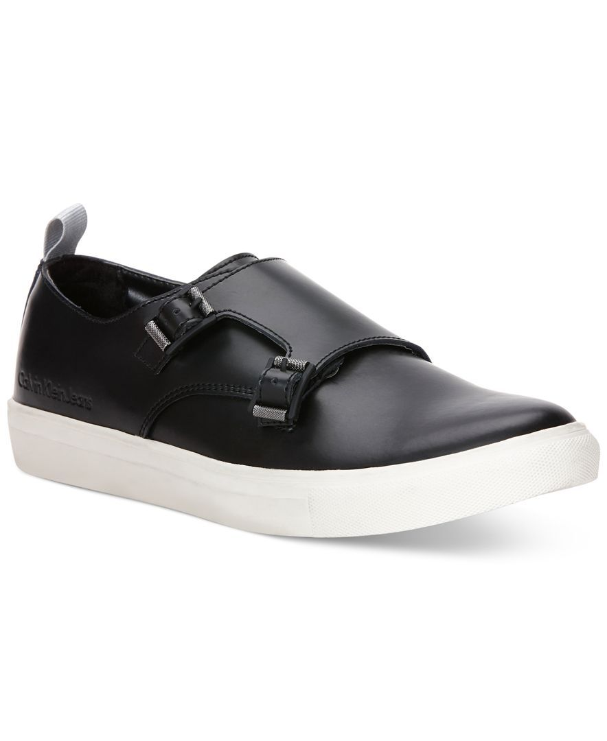 Calvin Klein Jeans Cabot Leather Monk Strap Sneakers - All Men's Shoes - Men  - Macy's