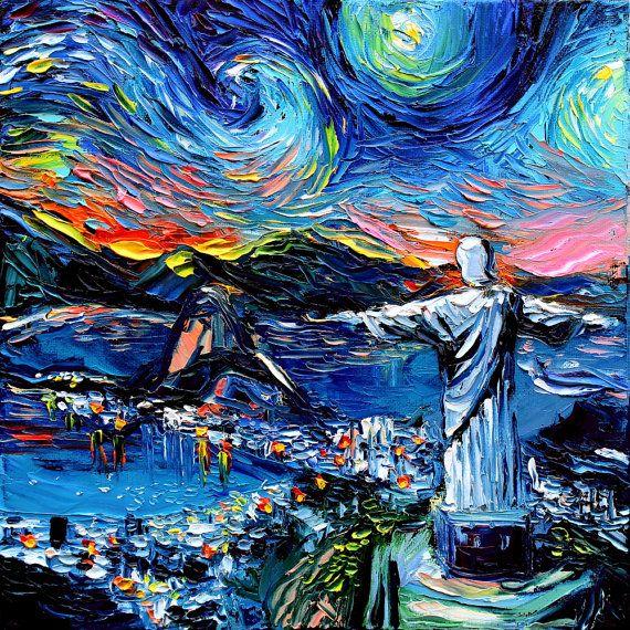 Van Gogh Never Saw Christ The Redeemer Art Giclee Print