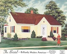 1950s Homes 1940s exterior house colors | 1940s, 1950s homes | ideas for the