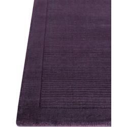 Photo of benuta wool carpet plain purple 120×170 cm – natural fiber carpet made of wool benuta