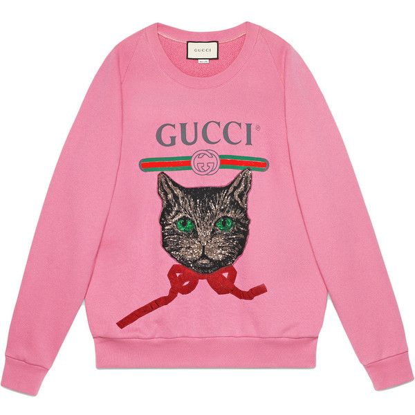 2f2da1d7428 Gucci Gucci logo sweatshirt with Mystic Cat ( 1