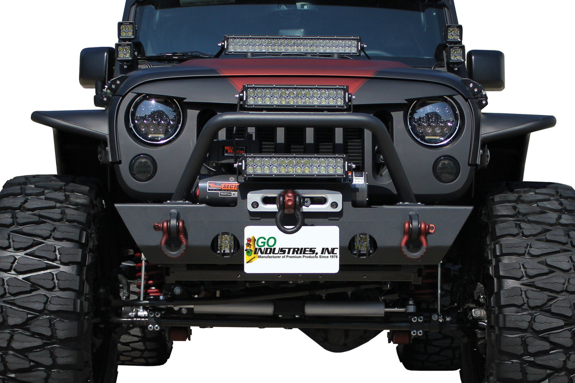 This Front Bumper Is Laser Cut From 3 16 Steel Plate Material And Jeep Wrangler Oem Fog Lights Will Provide Ample Protection For The End Of Your Jk