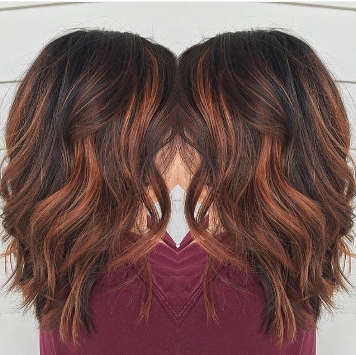 Red Brown Balayage By Rebecca At Avante Salon And Spa West Chester