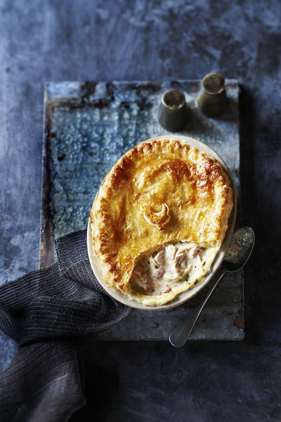 Chicken, cider and bacon puff pie, olive magazine, March 2014