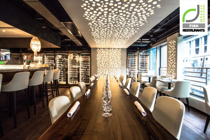 Fish Restaurants Cvche Restaurant By Liquid Interiors Hong Kong Backlit Precision Cut Custom