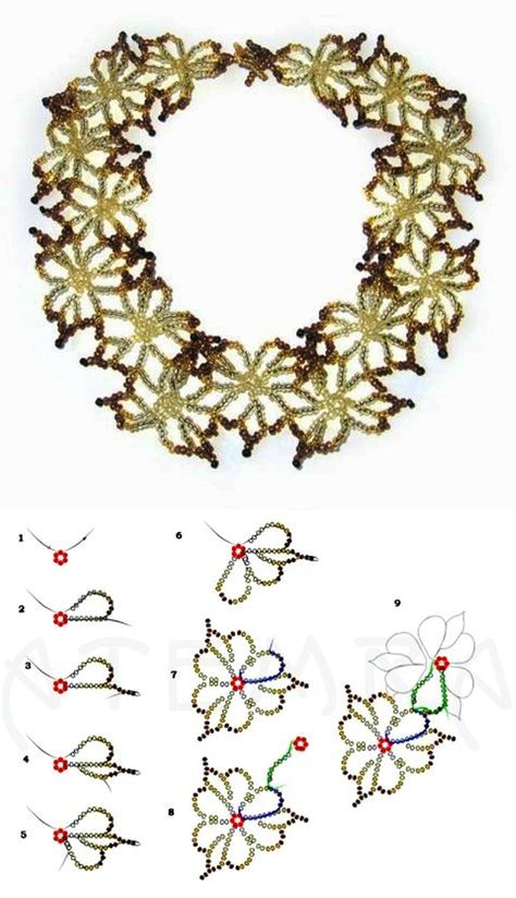 Photo of Free pattern for necklace Fleur