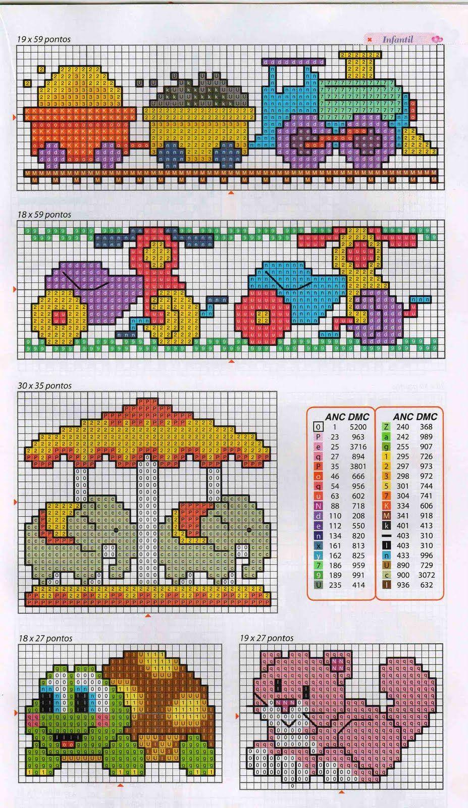 Esquemas de punto de cruz para toallas de bebé - Imagui   Infantiles ...