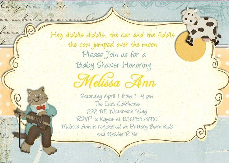 Nursery Rhyme Baby Shower Invitations Invitation Printable Ideas