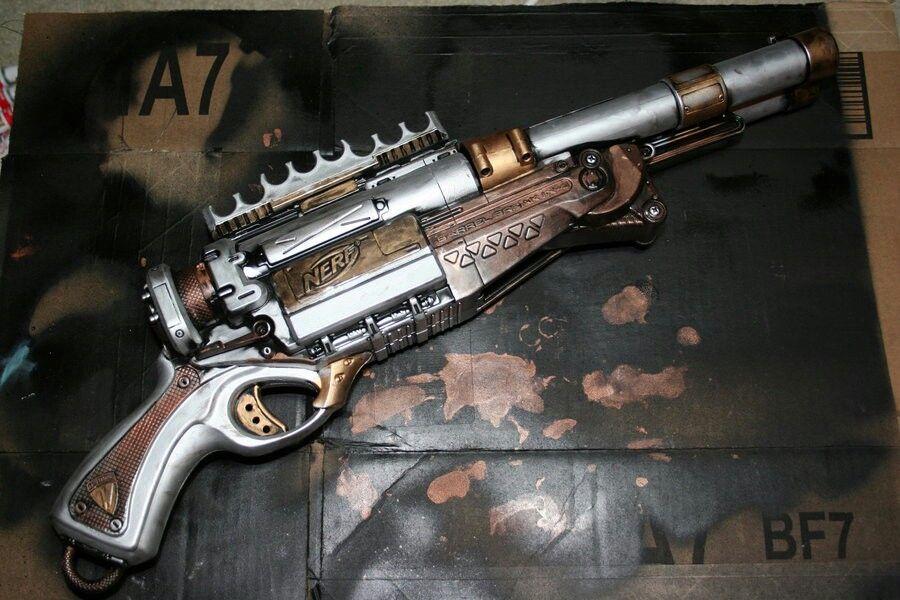 Painted Nerf Gun by Drakusdarkwind .