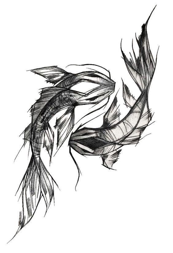 Photo of Orientalische Karpfen-Tätowierung Schwarzweiss-Design Orientalisches Design #drawing #tattootatuagem – tattoo tatuagem