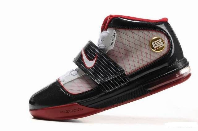 4eb6c24a531 Nike Zoom LeBron Soldier IV Mens Basketball Shoes - Black Grey Red For   69.00