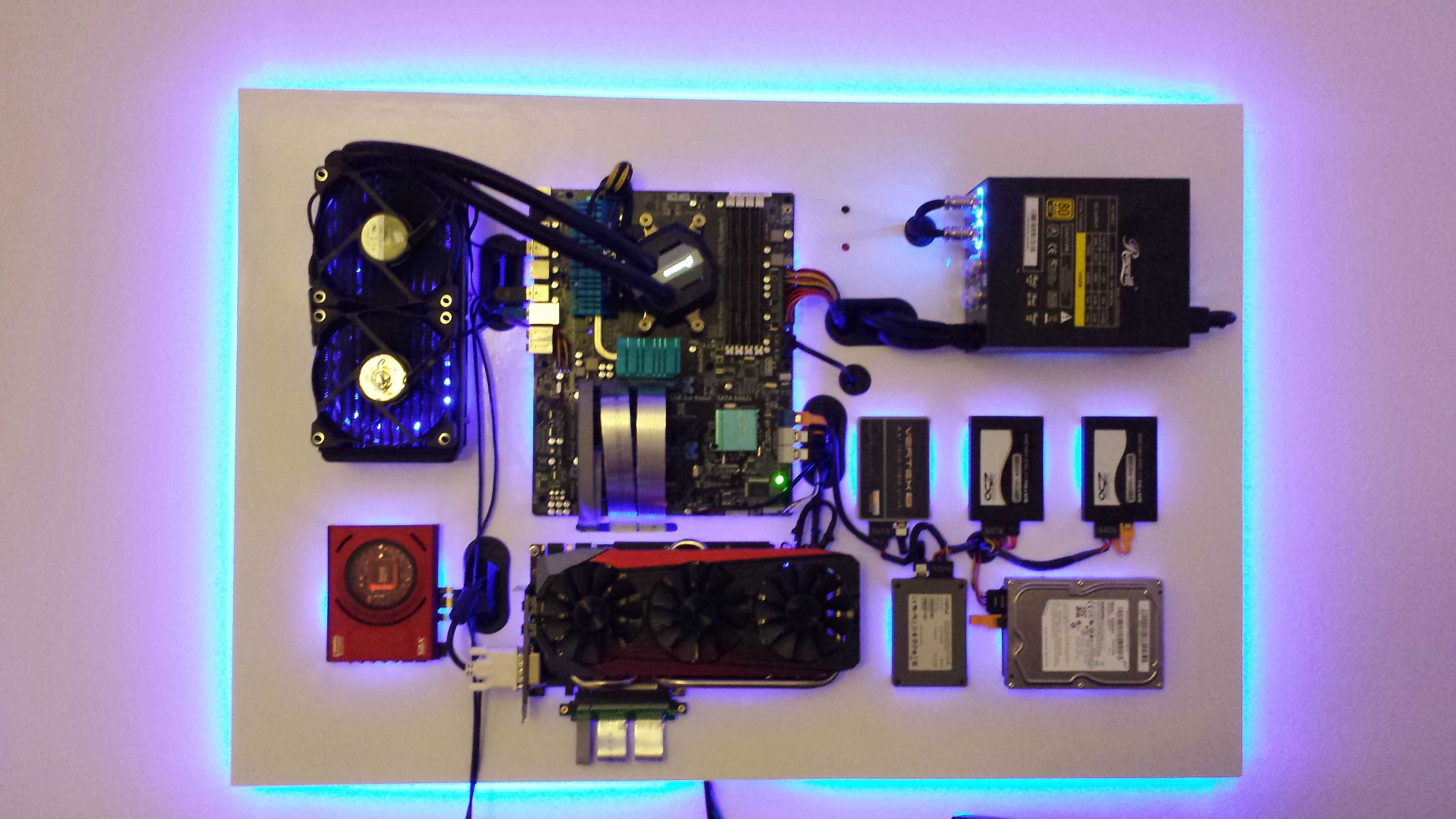 Http Imgur Com Gallery Vytjt Wall Mounted Pc Wall Computer Custom Computer