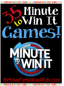 Minute To Win It Games For Kids Tween And Teen Parties Ages 6 7 8