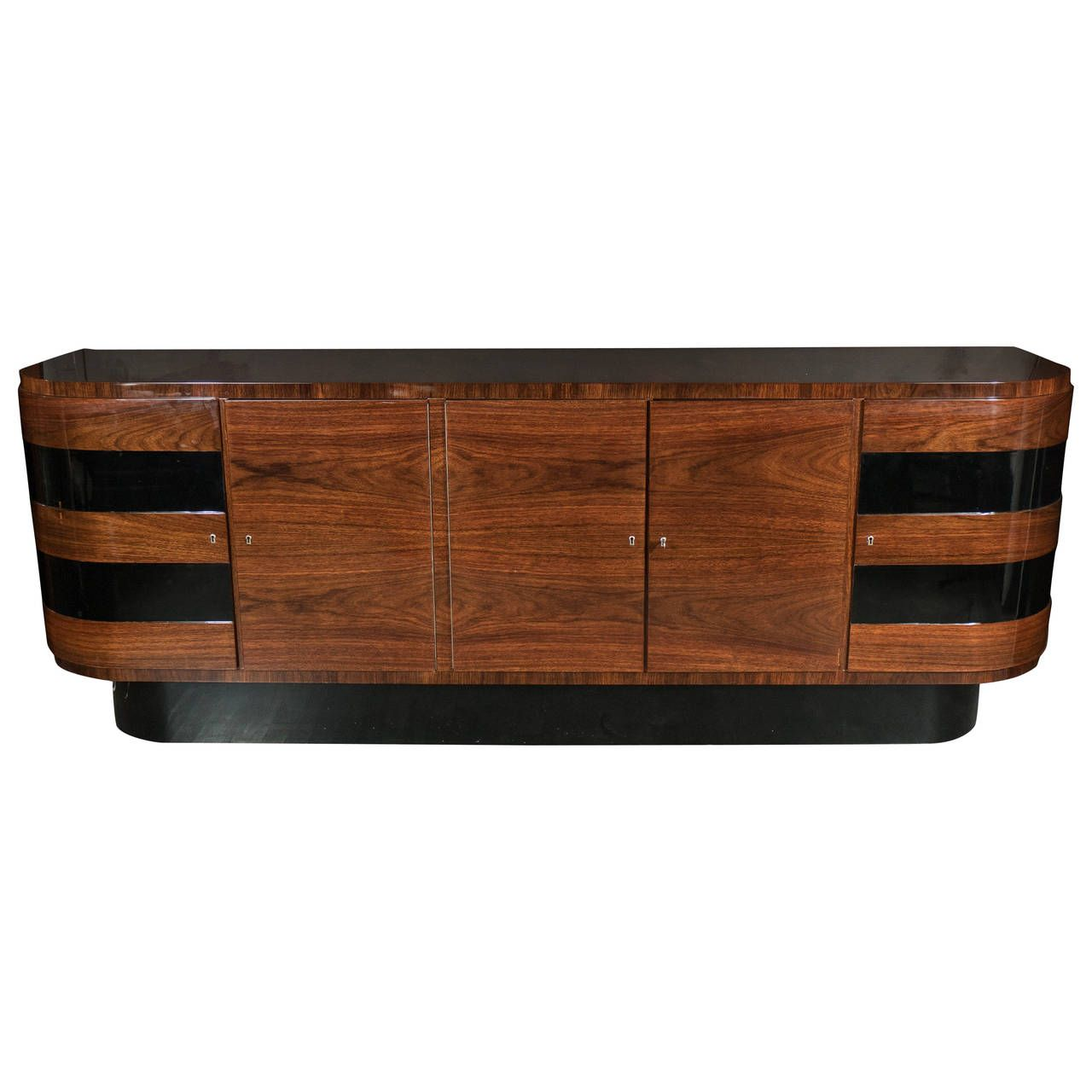 Art deco sideboard by deutsche mobel in bookmatched for Vintage mobel sideboard