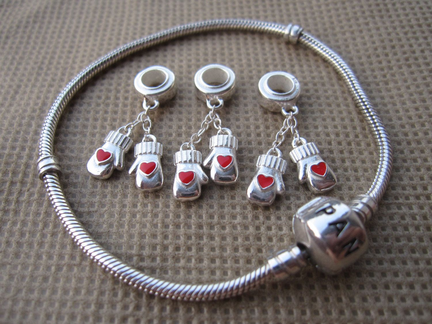 Love Boxing Dangle Charm 925 Sterling Silver Charm Charms