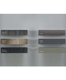Photo of Parete attrezzata moderna di design, rovere miele e peltro – 327×169 cm