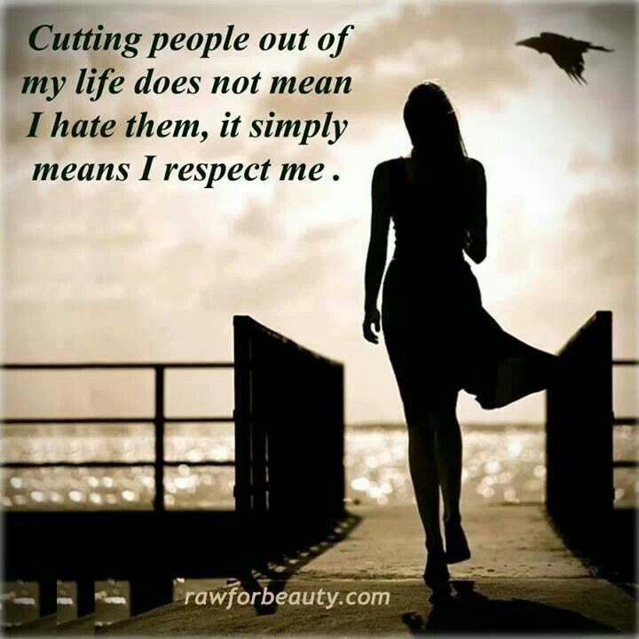Cutting people out...